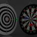 3d 3D model Double Sided Dart Board model buy - render