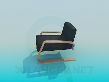 3d модель Низьке крісло – превью