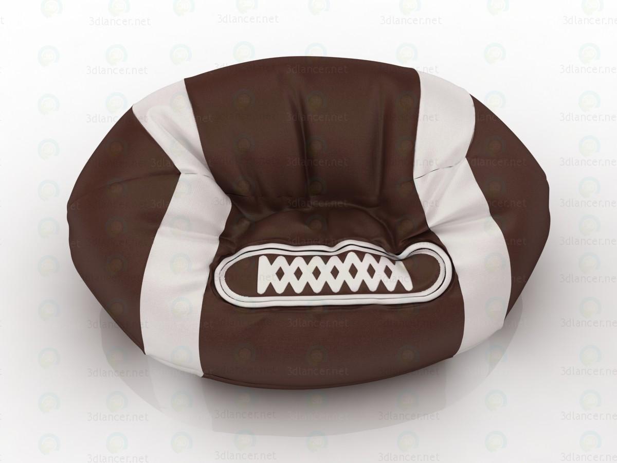 Bolso de silla bola de Rugby para sala de juegos 3D modelo Compro - render