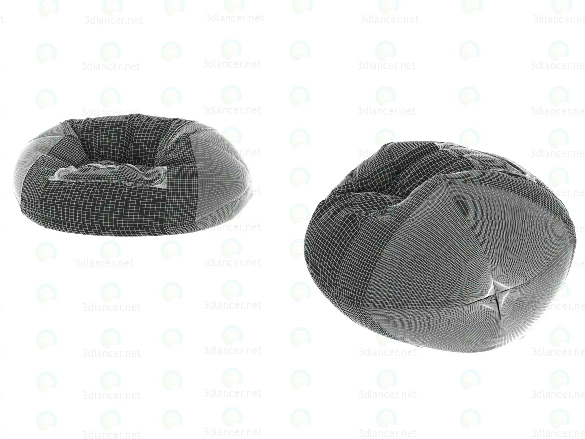 3d Rugby ball chair bag for playroom model buy - render
