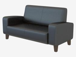 Sofá moderno doble cuero Anahita Doble