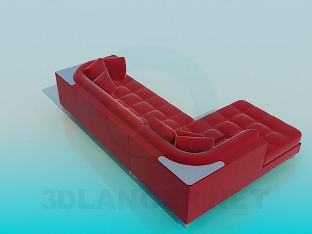 3d модель Мягкий уголок – превью