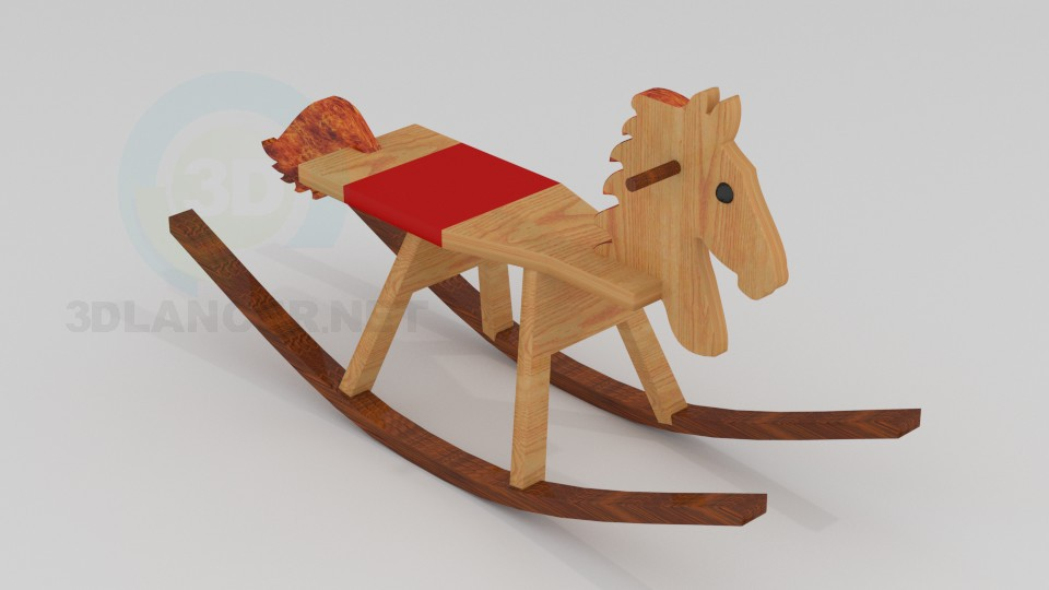3d model Children's rocking chair - preview