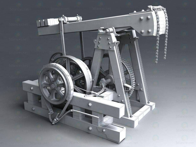 3d Нафтова вишка качалка модель купити - зображення