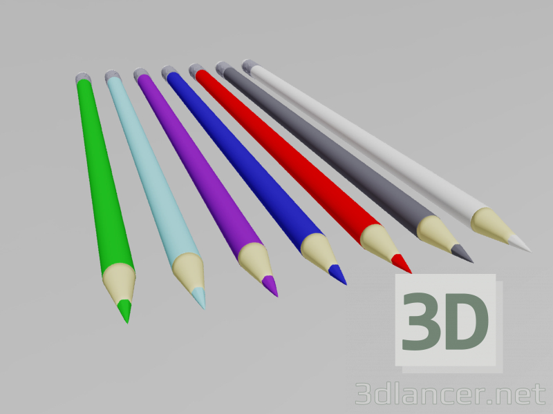 3d Pencil model buy - render