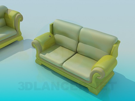 3d modeling Sofas as a unit model free download