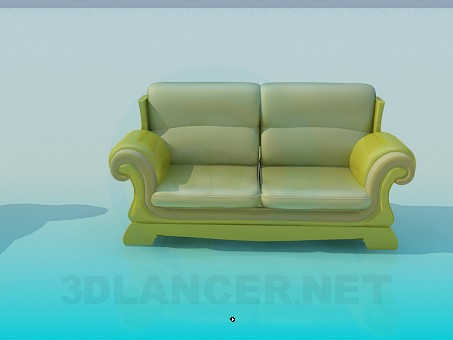 modelo 3D Sofás como una unidad - escuchar