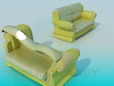 3d model Sofas as a unit - preview