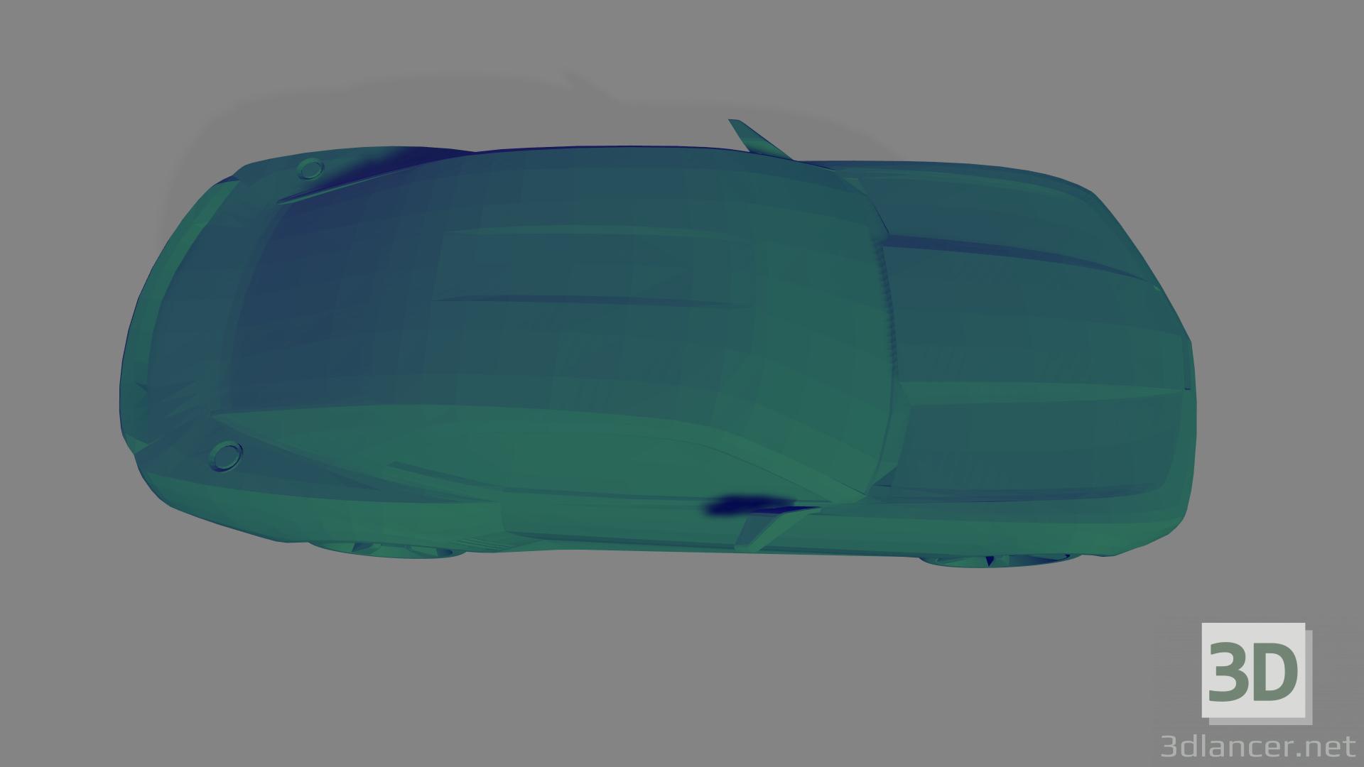 3d Ford GT40 - Printable toy model buy - render