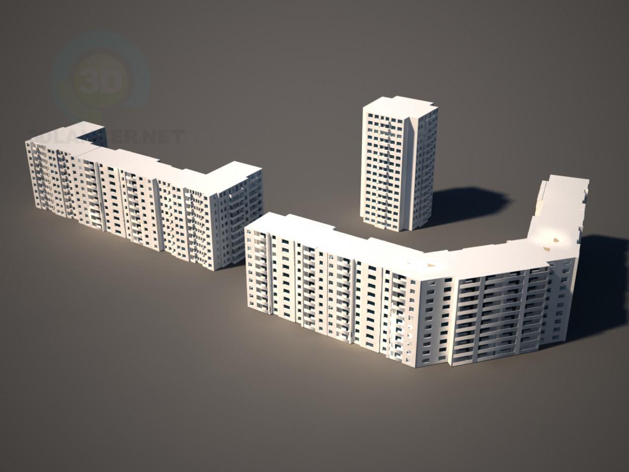 3d model Model houses - preview
