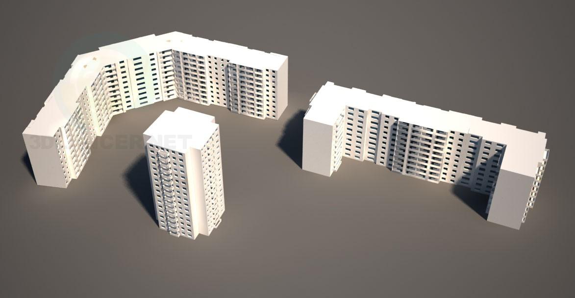 modelo 3D Casas modelo - escuchar