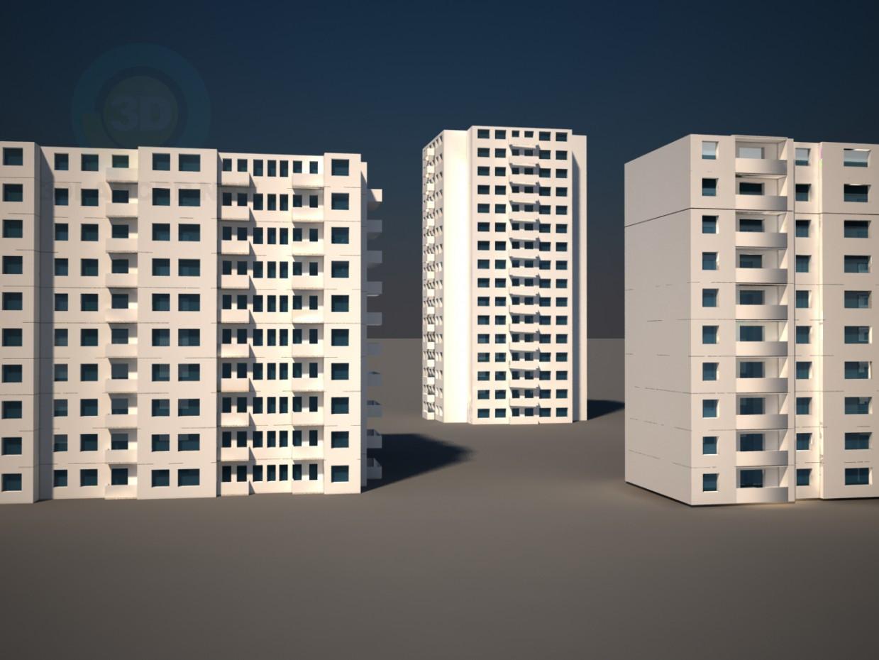 3d модель Типові багатоповерхові будинки – превью