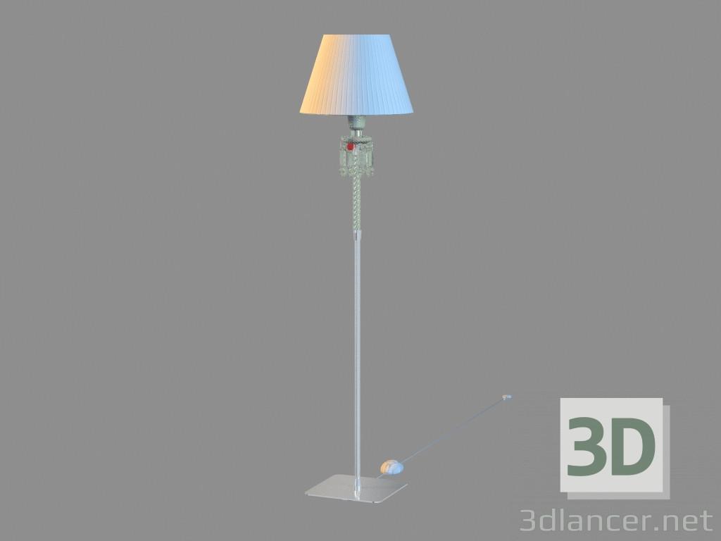 Modèle 3d Торшер Torch Petite lampe sur pied Abat-jour en blanc 2 ...