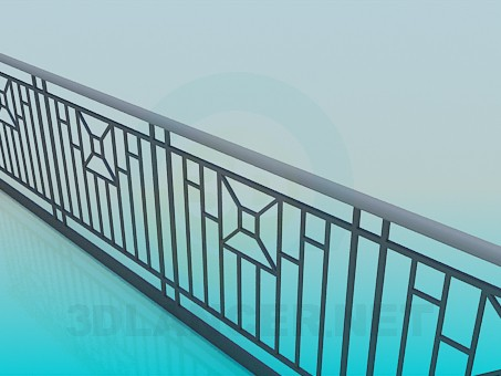 3d modeling Railing model free download