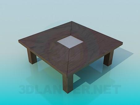 3d моделирование Журнальный столик с толстыми ножками модель скачать бесплатно