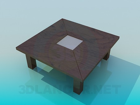 modelo 3D Mesa de centro con patas gruesas - escuchar