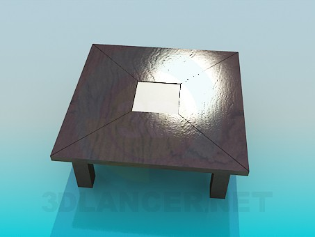 3d model Coffee table with thick legs - preview