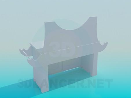 3d модель Тумба у ванну кімнату – превью