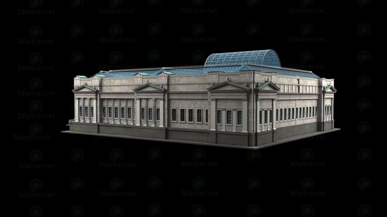 3d Государственный Музей Изобразительных Искусств имени А.С. Пушкина, Москва модель купить - ракурс