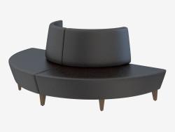 Sofá cuero moderno Globe Settee