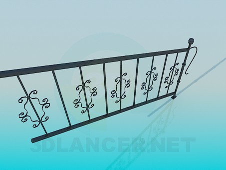 3d model Railings for steps - preview