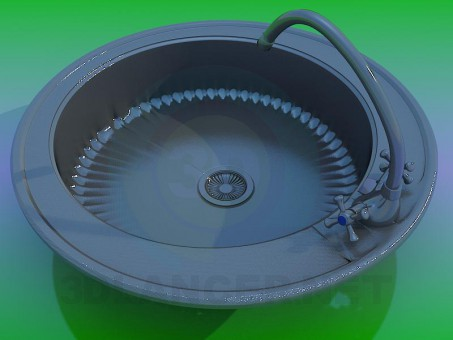 modelo 3D Fregadero de cocina - escuchar
