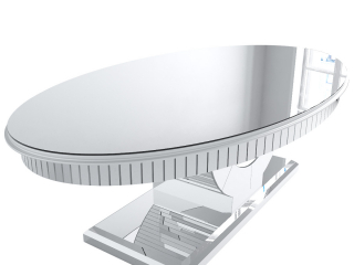 Oval Mirrored Dining Table