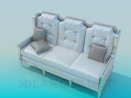 3d model Silver sofa - preview