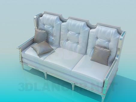 3d моделирование Серебристый диван модель скачать бесплатно