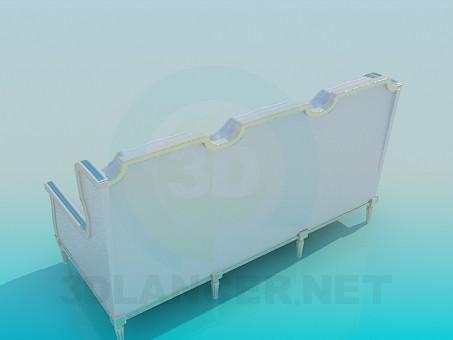 modelo 3D Sofá de plata - escuchar