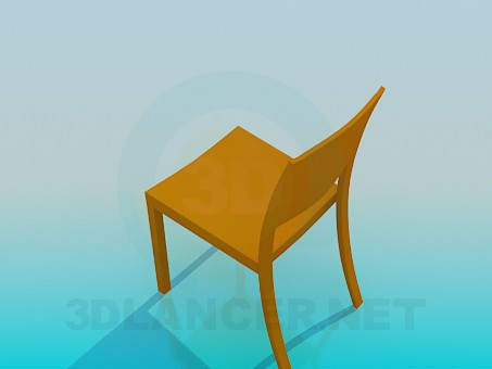 3d модель Стілець звичайний – превью