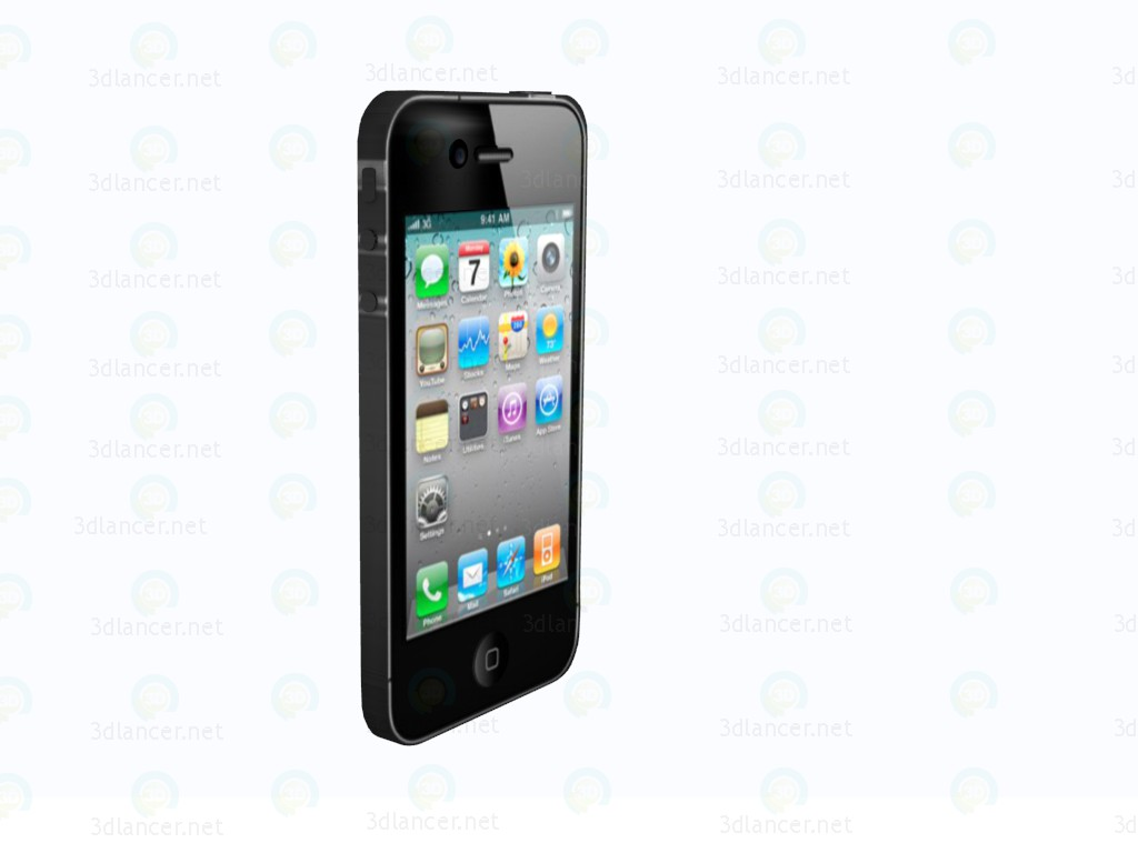 3d model IPhone 4s - preview
