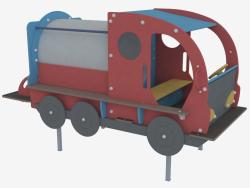Attrezzatura per parco giochi per bambini Camion con serbatoio (5128)
