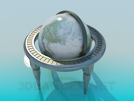 3d моделирование Глобус модель скачать бесплатно