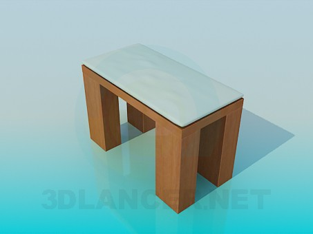 3d modeling Stool with massive legs model free download