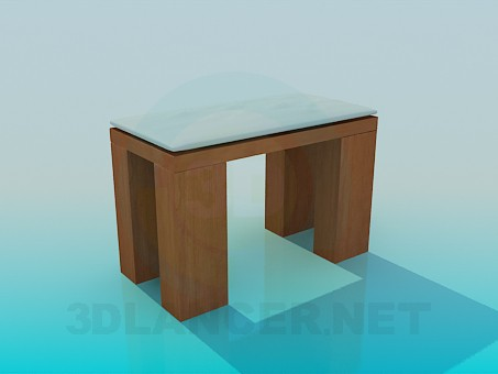 3d model Stool with massive legs - preview
