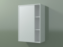 Wall cabinet with 1 left door (8CUCBCD01, Glacier White C01, L 48, P 24, H 72 cm)