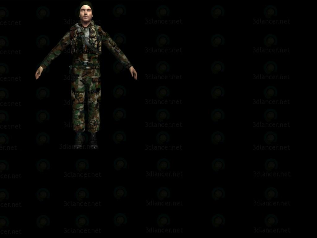 3d моделирование Солдат модель скачать бесплатно