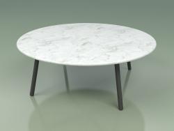 Mesa de centro 012 (Metal Ahumado, Mármol de Carrara)