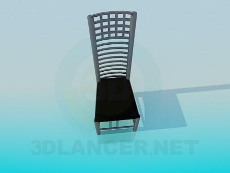3d модель Стілець з високою спинкою – превью