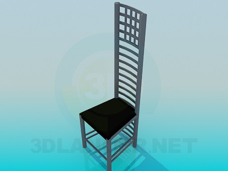 3d model Chair with high backrest - preview