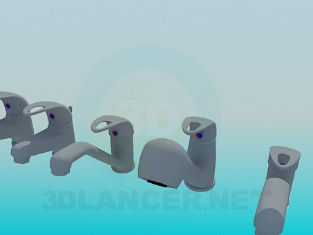 3d model Set of faucets - preview