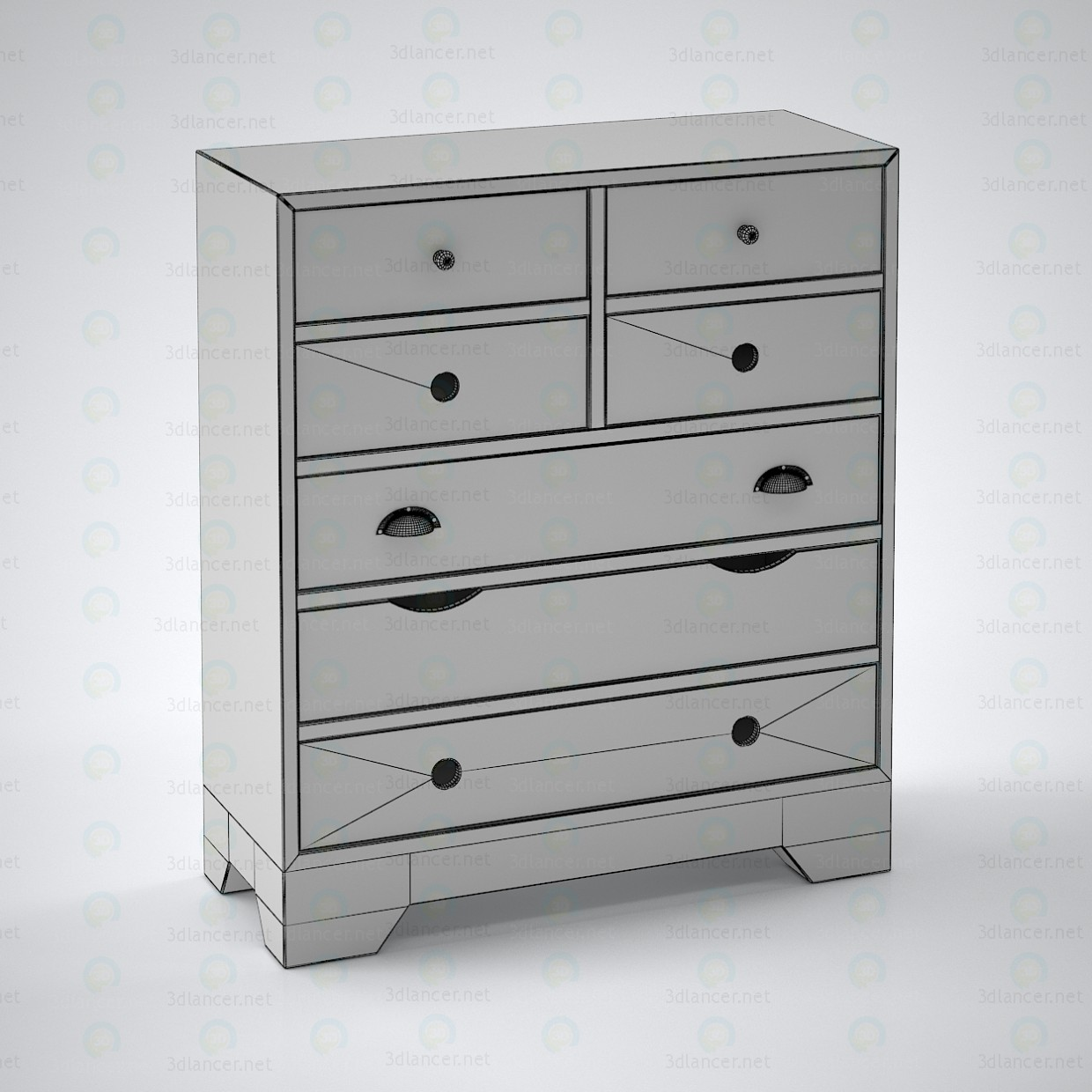 3d model Commode Rafn (Scandinavian style) - preview