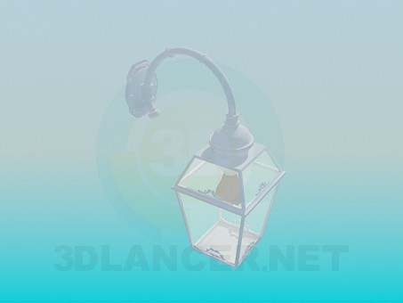 modelo 3D Farol pared - escuchar