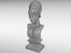 busto da deusa Athena