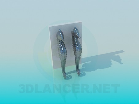 3d modeling Souvenir seahorse model free download