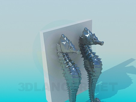 3d model Souvenir seahorse - preview