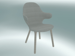 Chair Catch (JH1, 59x58 H 88cm, White oiled oak, Jacquared - Neutral)