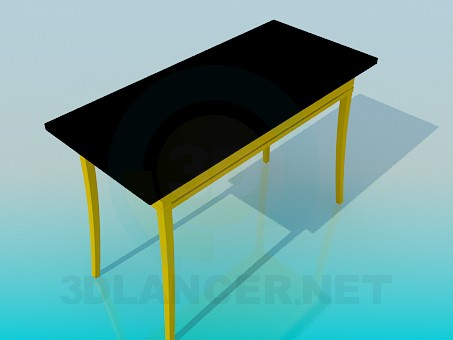 3d model Table with drawer - preview
