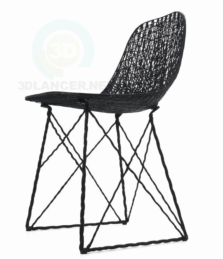 3d модель carbon chair – превью